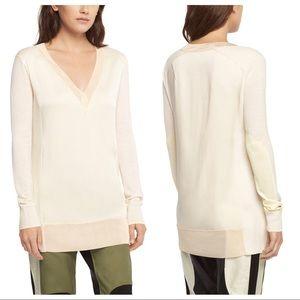 Rag & Bone Vivienne Ivory Tunic Sweater Size Small